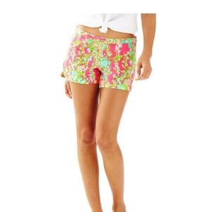 NWT Lilly Pulitzer Adie Shorts flamingo pink 0